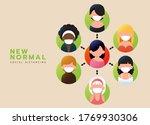 social distancing  should wear... | Shutterstock .eps vector #1769930306