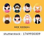 social distancing  after corona ... | Shutterstock .eps vector #1769930309