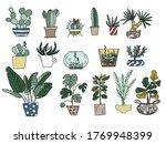 vector big set of color doodles ... | Shutterstock .eps vector #1769948399