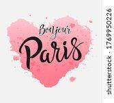 Bonjour Paris Phrase Vector...
