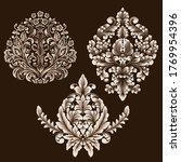 vector set of damask ornamental ... | Shutterstock .eps vector #1769954396