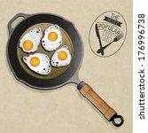 retro vintage style fried... | Shutterstock .eps vector #176996738