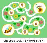 vector maze game for preschool... | Shutterstock .eps vector #1769968769
