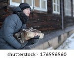 Man In The Village Of Firewood