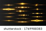 yellow horizontal lens flares... | Shutterstock .eps vector #1769988383
