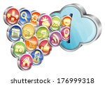 cloud computing concept  ... | Shutterstock .eps vector #176999318