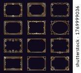 golden art deco frames. modern... | Shutterstock . vector #1769999036