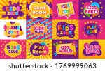 kids game zone banner. children ... | Shutterstock . vector #1769999063