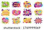 kids entertainment badges. game ... | Shutterstock . vector #1769999069