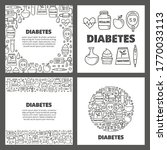 set of cards with doodle... | Shutterstock .eps vector #1770033113