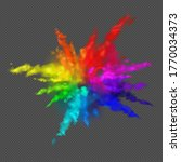 rainbow colors paint powder and ...   Shutterstock .eps vector #1770034373
