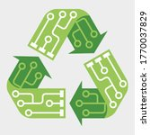 e waste garbage icon. old... | Shutterstock .eps vector #1770037829