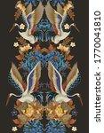 border with mandarin ducks ... | Shutterstock .eps vector #1770041810