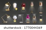 realistic lamp. home floor and... | Shutterstock .eps vector #1770044369