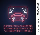 drive in movie theater neon... | Shutterstock .eps vector #1770047189