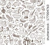 natural food   seamless vector... | Shutterstock .eps vector #177004763