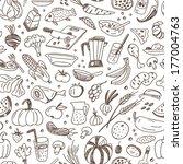 natural food   seamless vector... | Shutterstock .eps vector #177004763