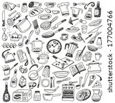 cookery   doodles collection   Shutterstock .eps vector #177004766