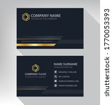 business card in modern luxury...   Shutterstock .eps vector #1770053393