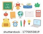 back to school kawaii vector... | Shutterstock .eps vector #1770053819