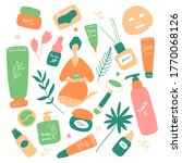 big beauty set. skin care and... | Shutterstock .eps vector #1770068126