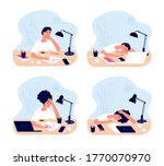 tired students. study... | Shutterstock .eps vector #1770070970
