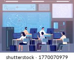 flight control center. airport...   Shutterstock .eps vector #1770070979