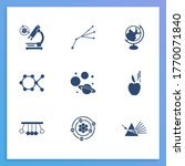 physics icon set and electrons...