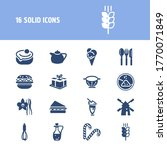 pastry icon set and mill with...