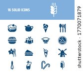bakery icon set and mill with...