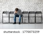 Desperate Sad Jobless Man Put...