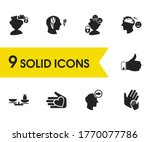 psychology icons set with...