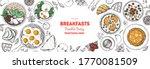 breakfast  brunch sketch design ... | Shutterstock .eps vector #1770081509