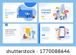 web page design templates of... | Shutterstock .eps vector #1770088646