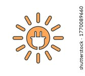 solar energy  sun and electric... | Shutterstock .eps vector #1770089660