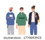 group of diverse modern... | Shutterstock .eps vector #1770093923