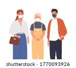 modern man  woman and teen girl ... | Shutterstock .eps vector #1770093926