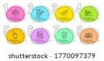horizontal chart  paper plane...   Shutterstock .eps vector #1770097379