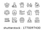 buyer customer line icons set.... | Shutterstock .eps vector #1770097430