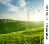 wind generators turbines on... | Shutterstock . vector #177011159