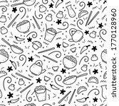 hand drawn seamless pattern of... | Shutterstock .eps vector #1770128960