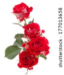 Stock photo red rose flower bouquet isolated on white background cutout 177013658