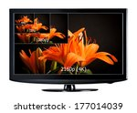 4k television display with... | Shutterstock . vector #177014039
