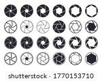 camera shutter icons. aperture... | Shutterstock .eps vector #1770153710