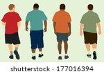 people walking way | Shutterstock .eps vector #177016394