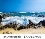 Sea Wave. Blue Clear Sky  The...