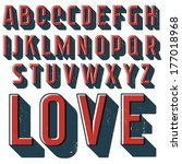 vintage vector decorative font... | Shutterstock .eps vector #177018968