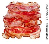 Stack Of Bacon Fried Slices ...