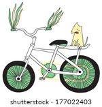 i love bike. raster version. | Shutterstock . vector #177022403