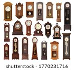 antique clock isolated cartoon... | Shutterstock .eps vector #1770231716